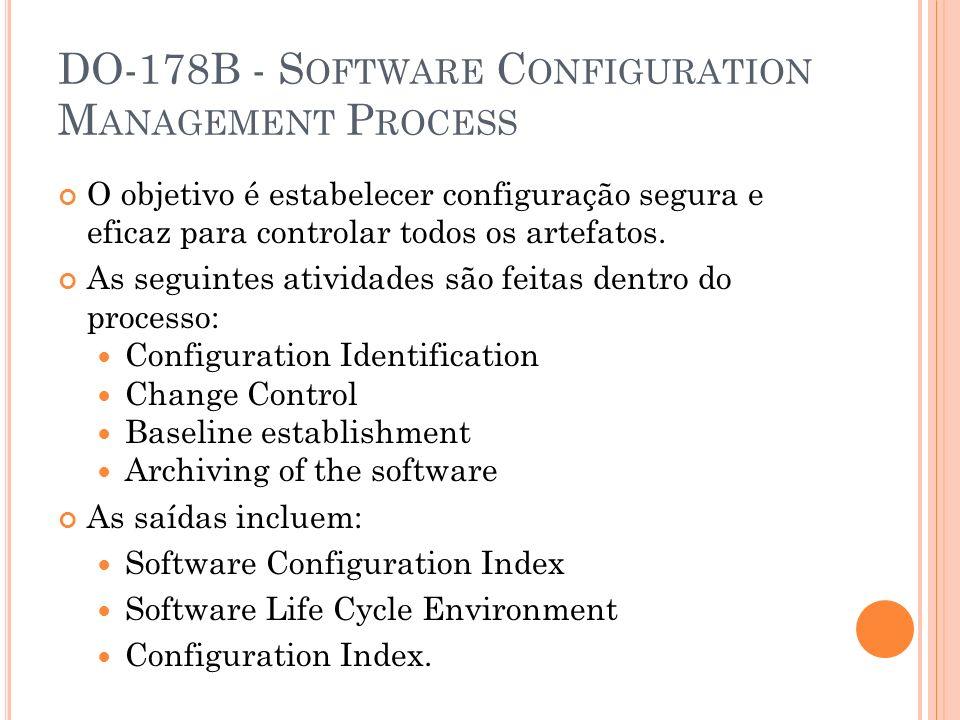 DO-178B - Software Configuration Management Process