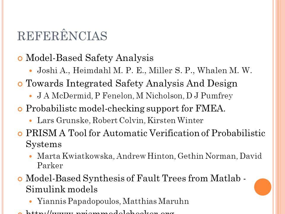 REFERÊNCIAS Model-Based Safety Analysis