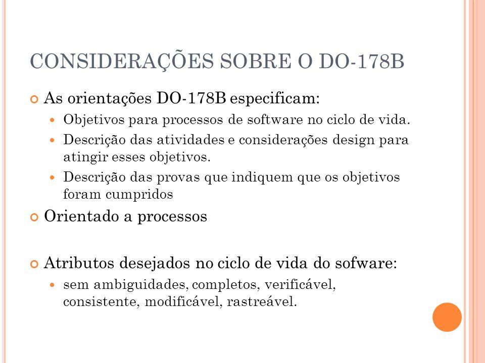 CONSIDERAÇÕES SOBRE O DO-178B