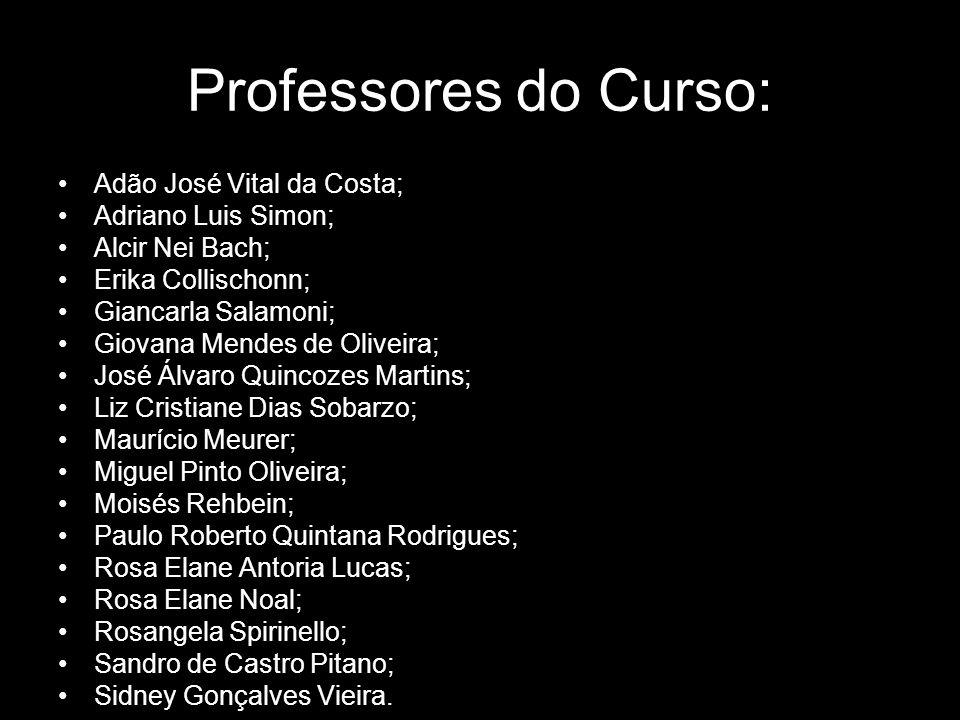 Professores do Curso: Adão José Vital da Costa; Adriano Luis Simon;