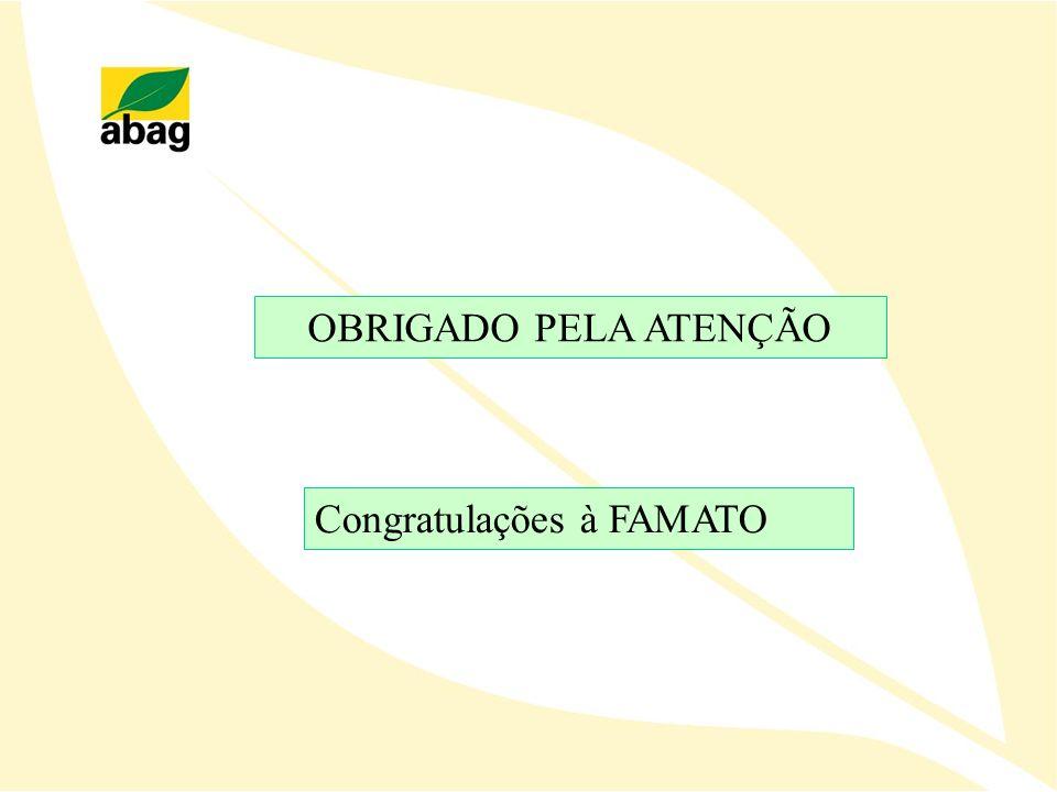 OBRIGADO PELA ATENÇÃO Congratulações à FAMATO