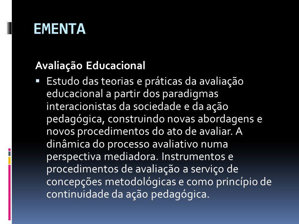 EMENTA Avaliação Educacional
