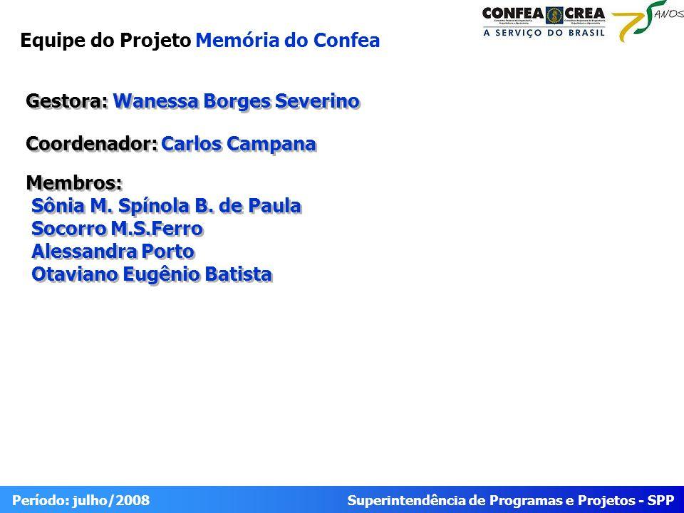 Equipe do Projeto Memória do Confea