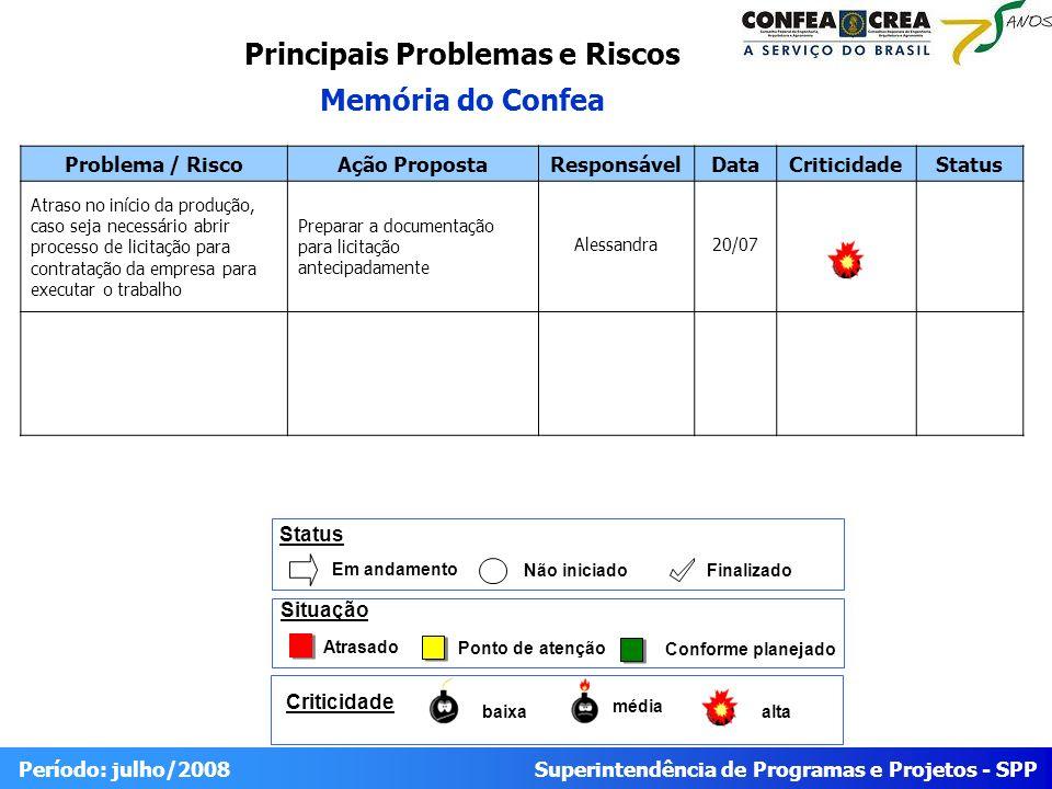 Principais Problemas e Riscos
