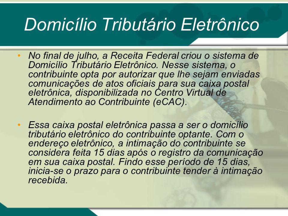 Domicílio Tributário Eletrônico