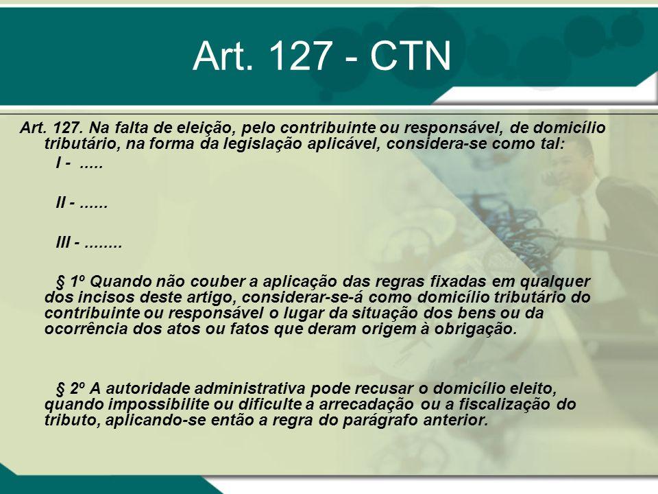 Art. 127 - CTN
