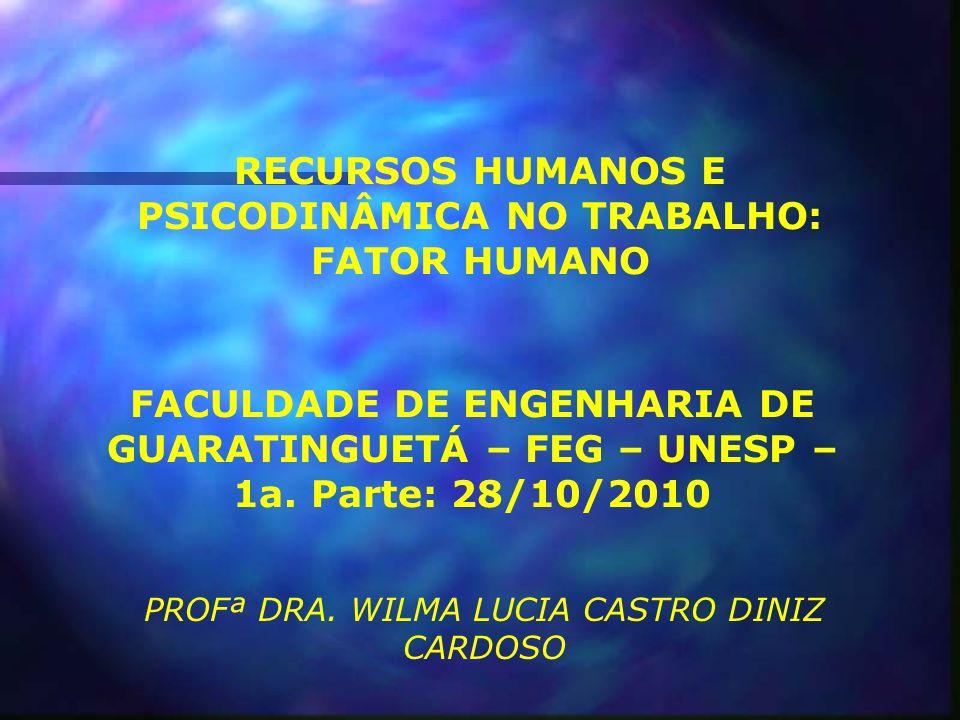 RECURSOS HUMANOS E PSICODINÂMICA NO TRABALHO: FATOR HUMANO