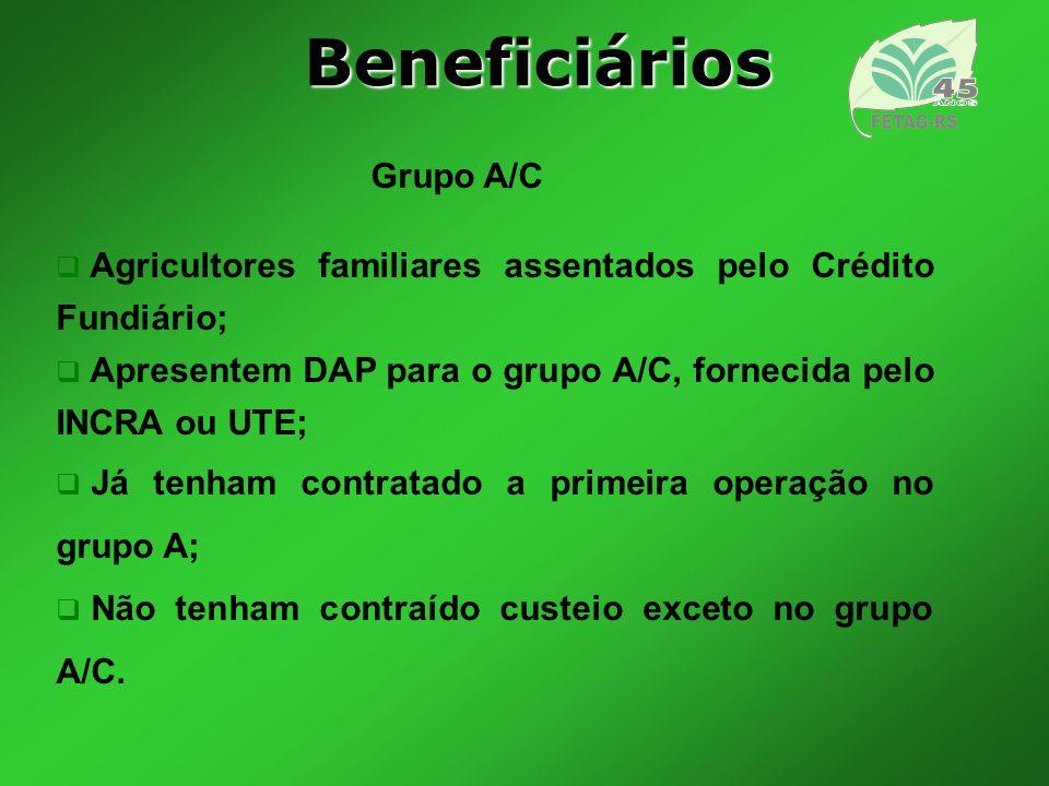 Beneficiários Grupo A/C