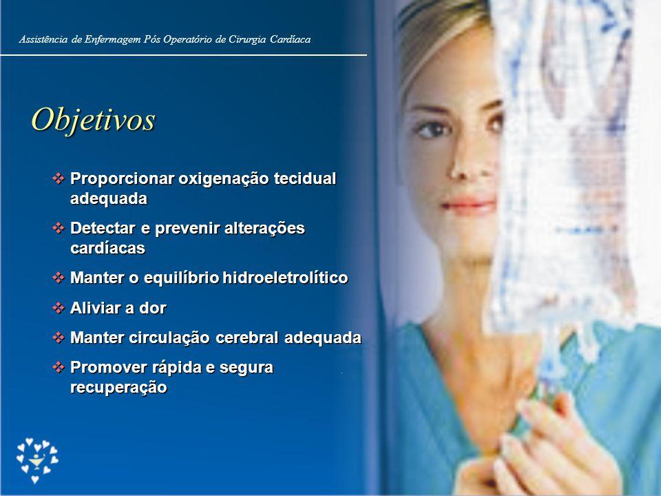 Objetivos Proporcionar oxigenação tecidual adequada