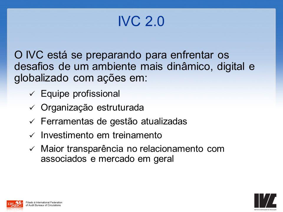 IVC 2.0 O IVC está se preparando para enfrentar os desafios de um ambiente mais dinâmico, digital e globalizado com ações em: