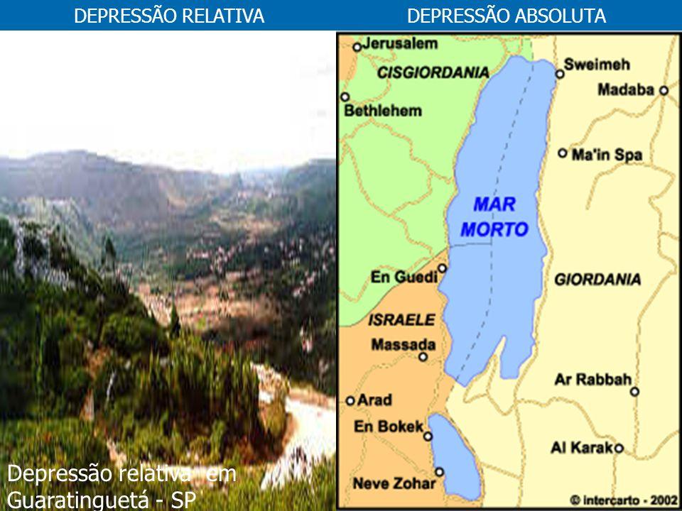Depressão relativa em Guaratinguetá - SP