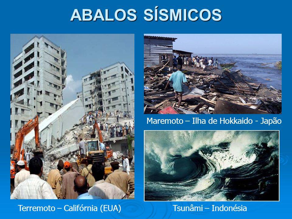 ABALOS SÍSMICOS Maremoto – Ilha de Hokkaido - Japão