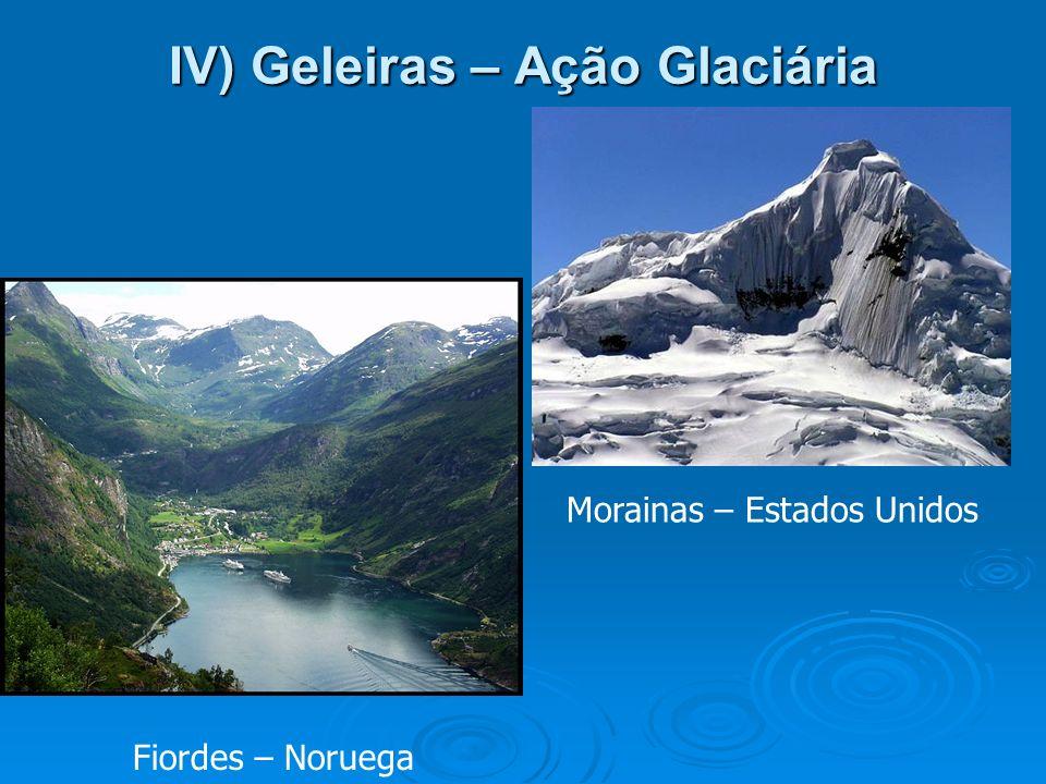 IV) Geleiras – Ação Glaciária