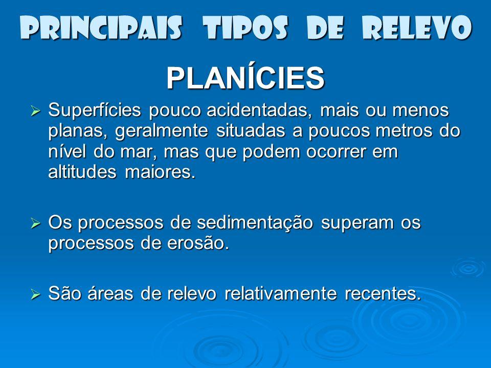 PRINCIPAIS TIPOS DE RELEVO