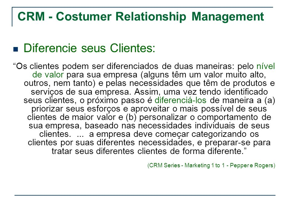 CRM - Costumer Relationship Management