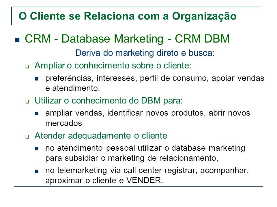 Deriva do marketing direto e busca: