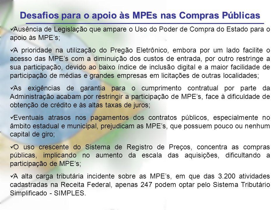 Desafios para o apoio às MPEs nas Compras Públicas