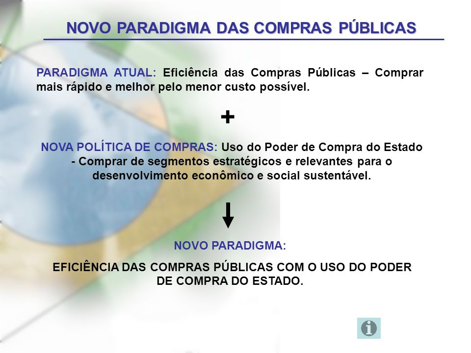 NOVO PARADIGMA DAS COMPRAS PÚBLICAS