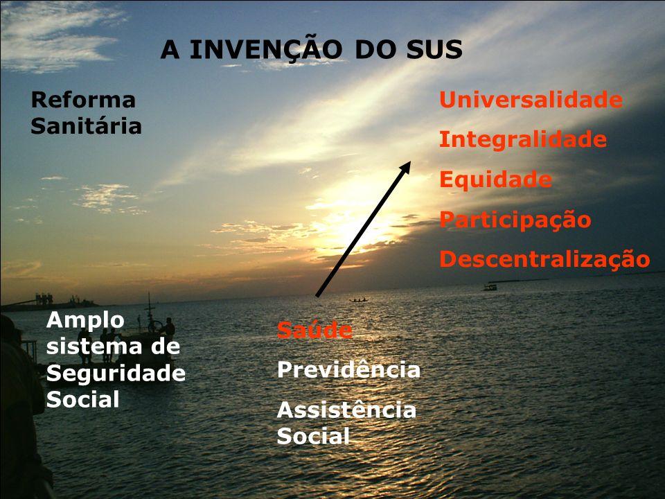 A INVENÇÃO DO SUS Reforma Sanitária Universalidade Integralidade