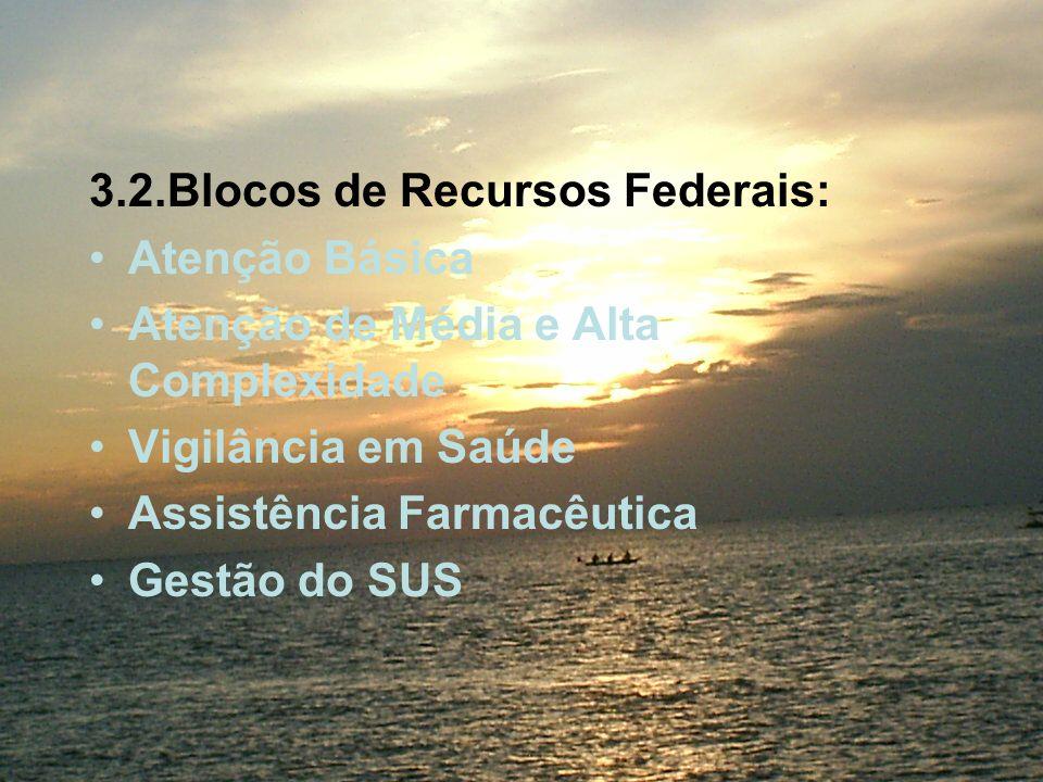 3.2.Blocos de Recursos Federais: