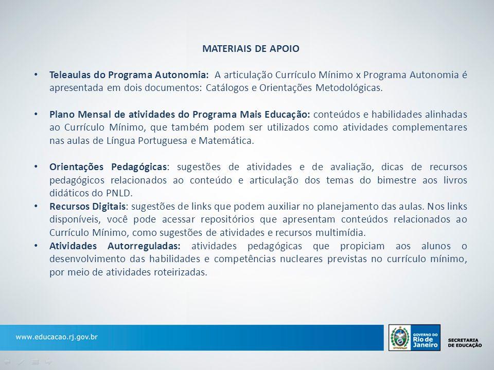 MATERIAIS DE APOIO