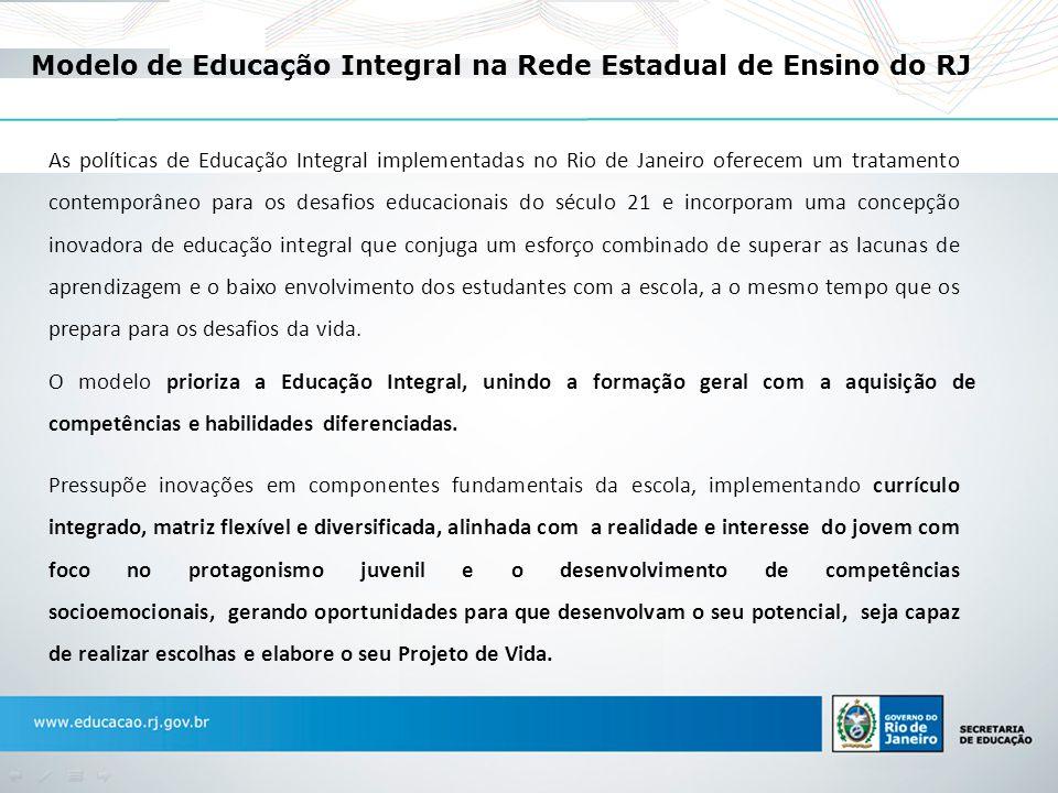 Modelo de Educação Integral na Rede Estadual de Ensino do RJ