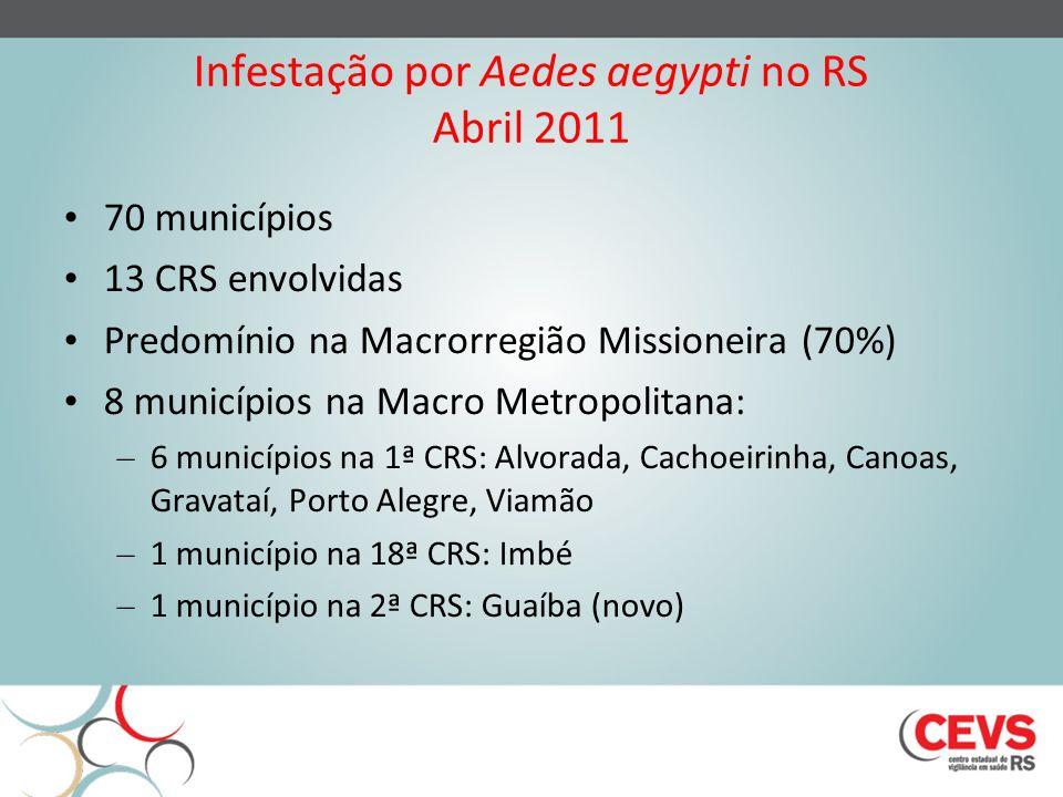 Infestação por Aedes aegypti no RS Abril 2011