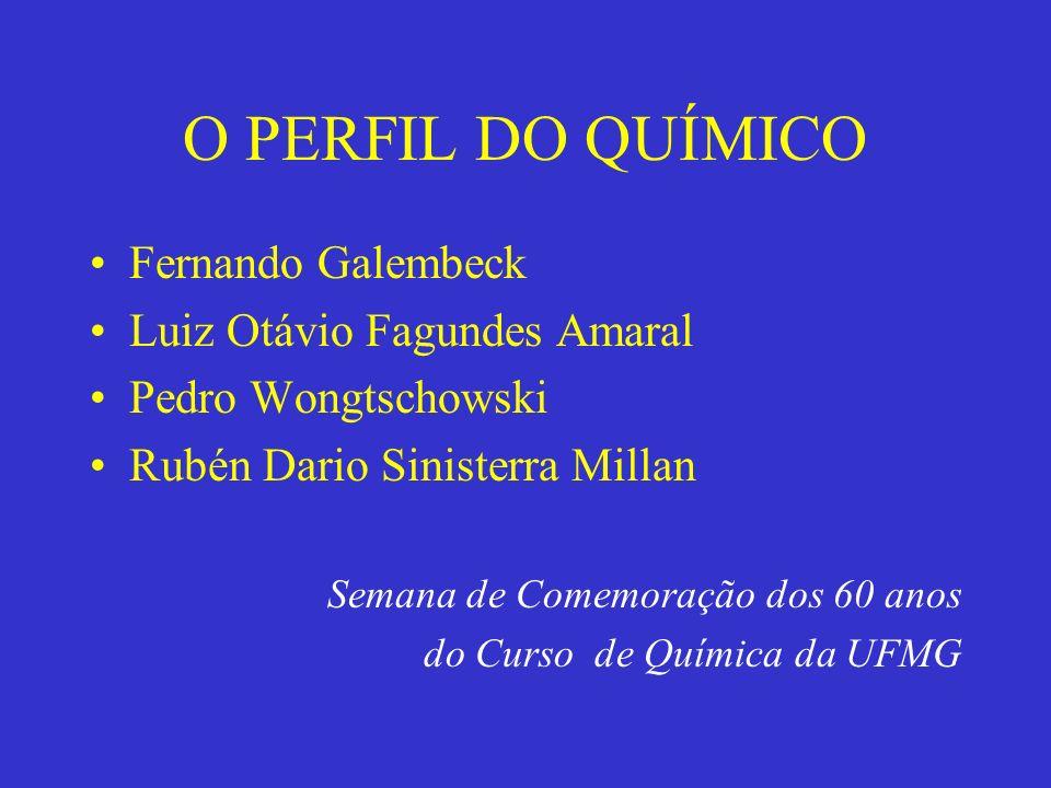 O PERFIL DO QUÍMICO Fernando Galembeck Luiz Otávio Fagundes Amaral