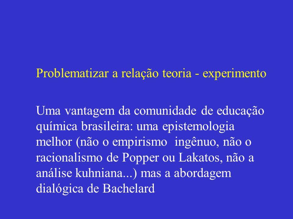 Problematizar a relação teoria - experimento