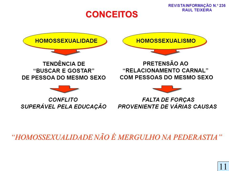 CONCEITOS 11 HOMOSSEXUALIDADE NÃO É MERGULHO NA PEDERASTIA