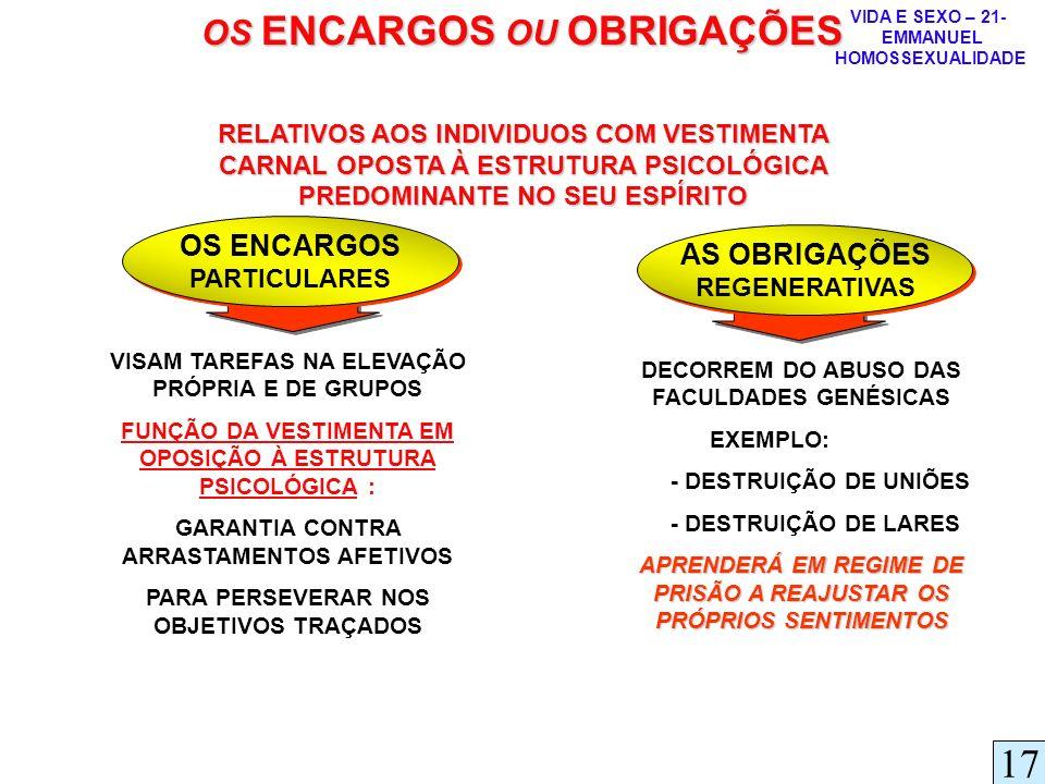 17 OS ENCARGOS OU OBRIGAÇÕES OS ENCARGOS AS OBRIGAÇÕES