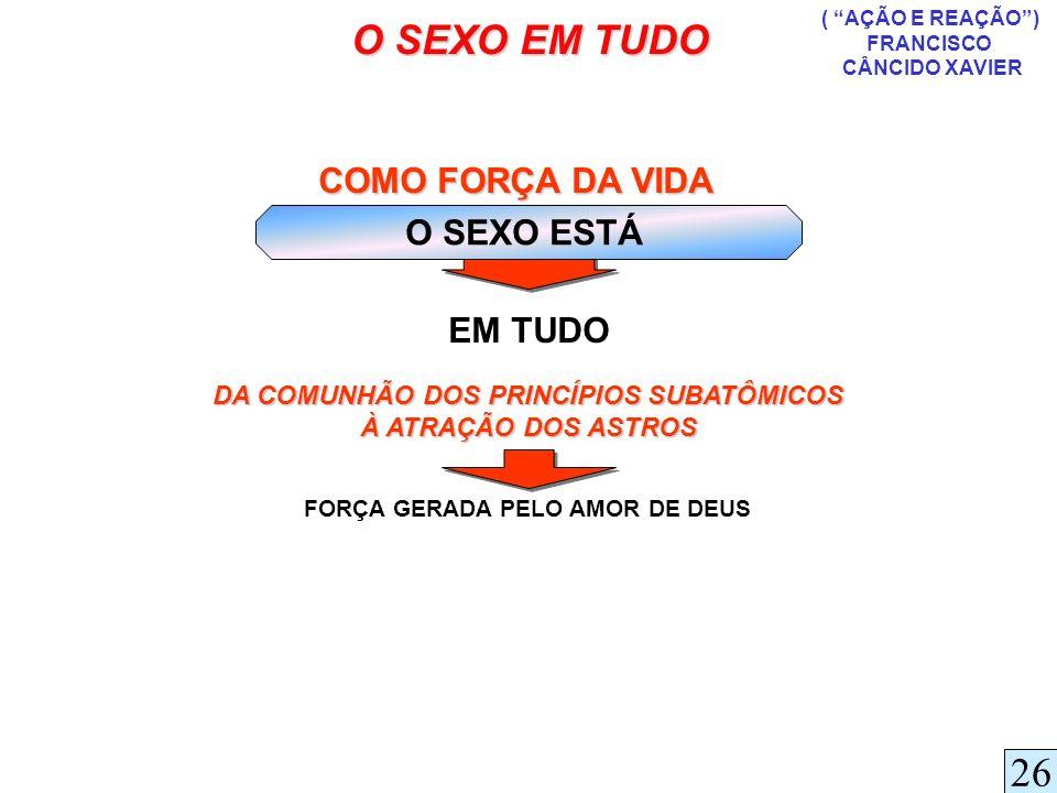 DA COMUNHÃO DOS PRINCÍPIOS SUBATÔMICOS FORÇA GERADA PELO AMOR DE DEUS