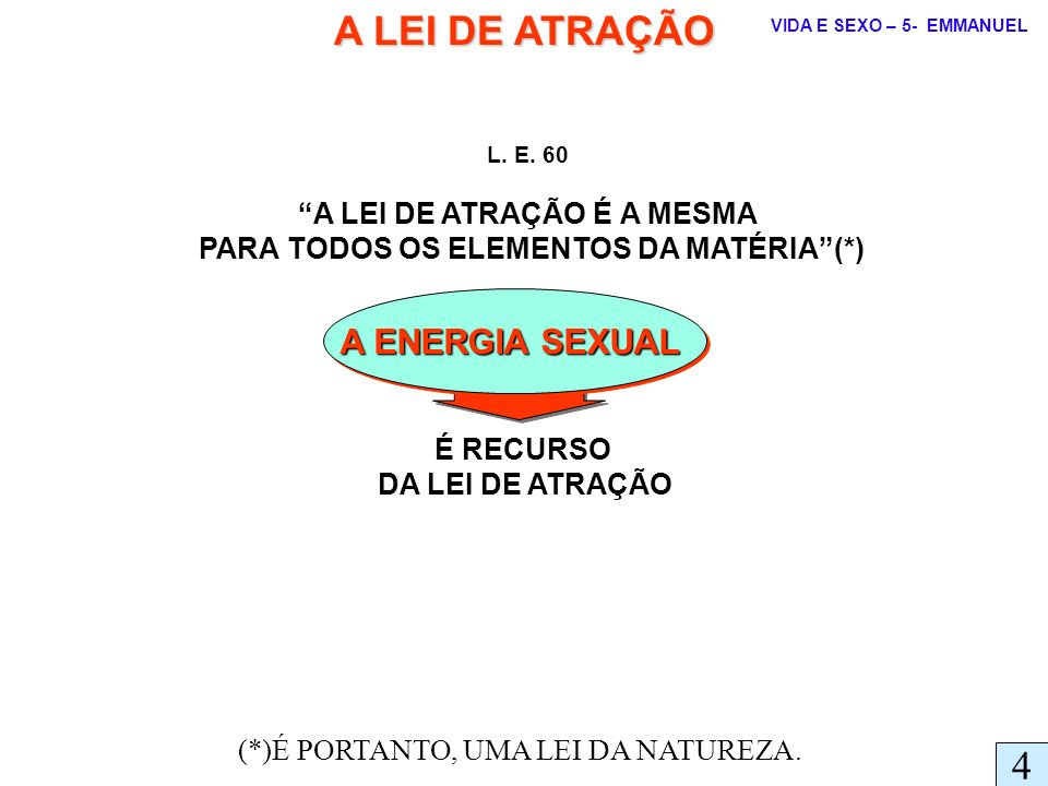 A LEI DE ATRAÇÃO É A MESMA PARA TODOS OS ELEMENTOS DA MATÉRIA (*)
