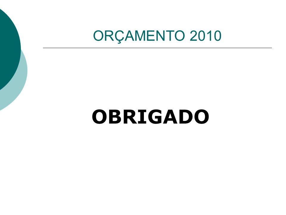 ORÇAMENTO 2010 OBRIGADO