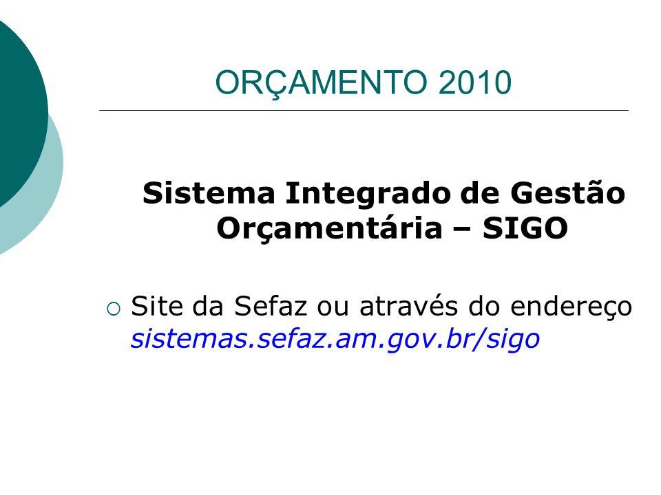 Sistema Integrado de Gestão Orçamentária – SIGO