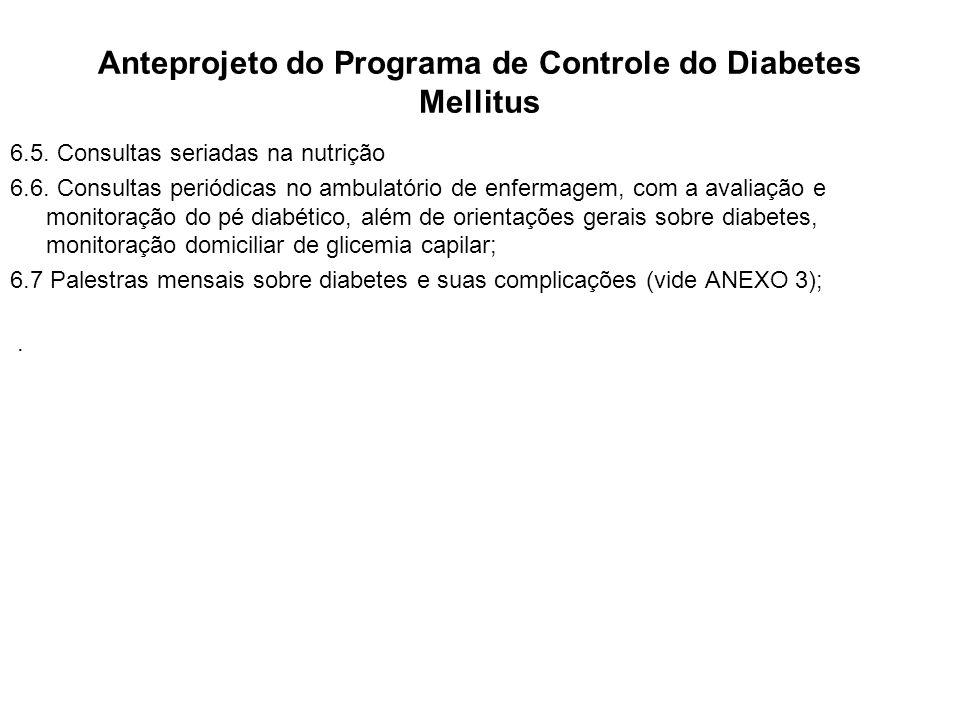 Anteprojeto do Programa de Controle do Diabetes Mellitus