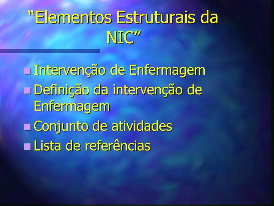 Elementos Estruturais da NIC