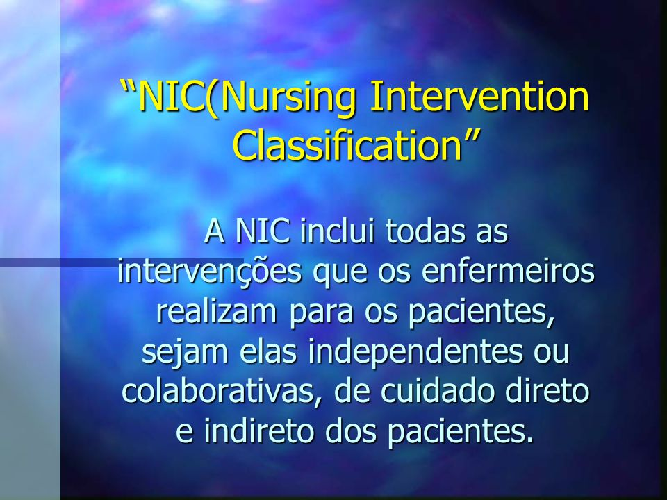 NIC(Nursing Intervention Classification
