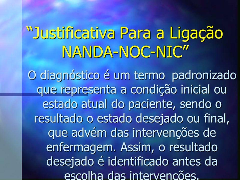 Justificativa Para a Ligação NANDA-NOC-NIC