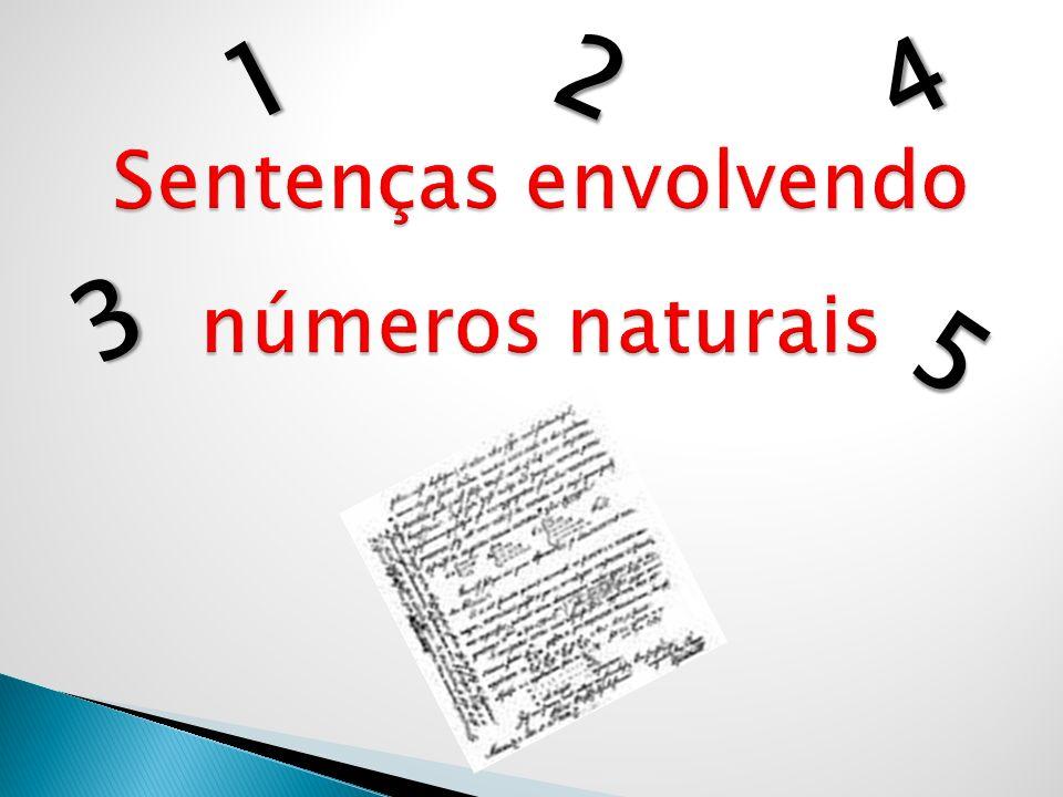 Sentenças envolvendo números naturais