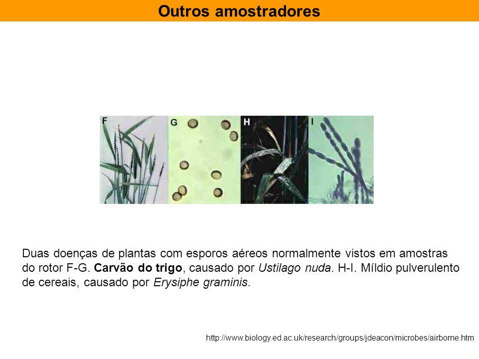 Outros amostradores Duas doenças de plantas com esporos aéreos normalmente vistos em amostras.