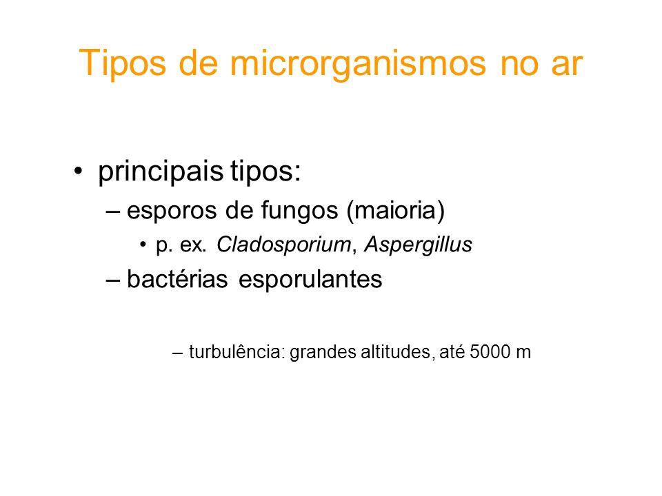 Tipos de microrganismos no ar