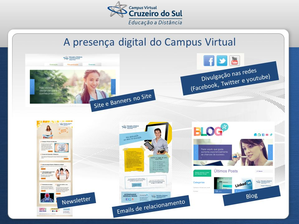 A presença digital do Campus Virtual