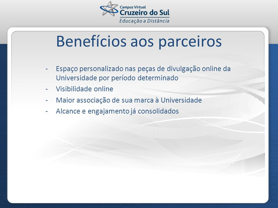 Benefícios aos parceiros