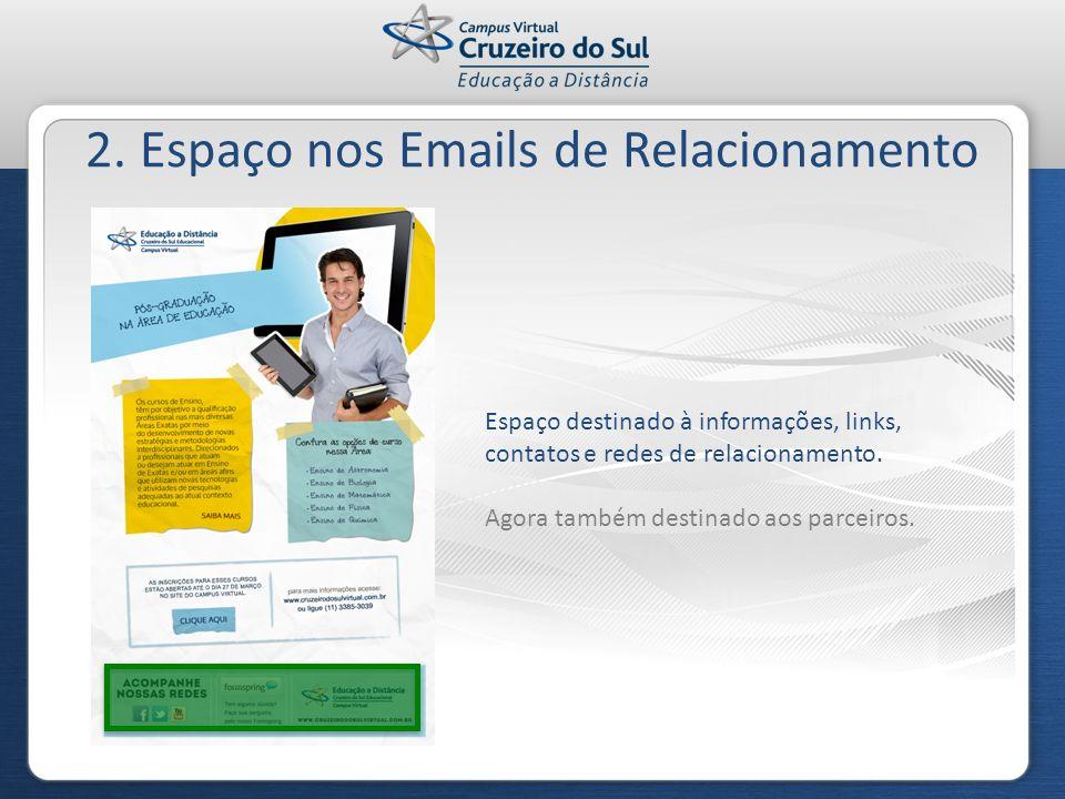 2. Espaço nos Emails de Relacionamento