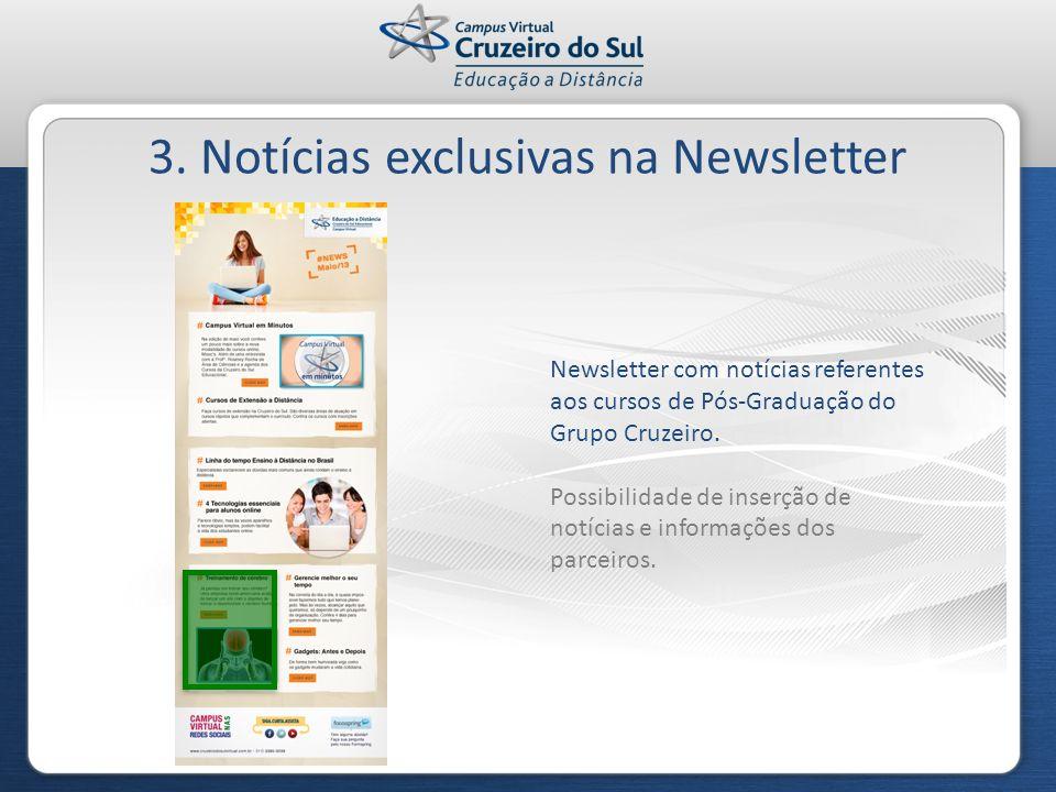 3. Notícias exclusivas na Newsletter