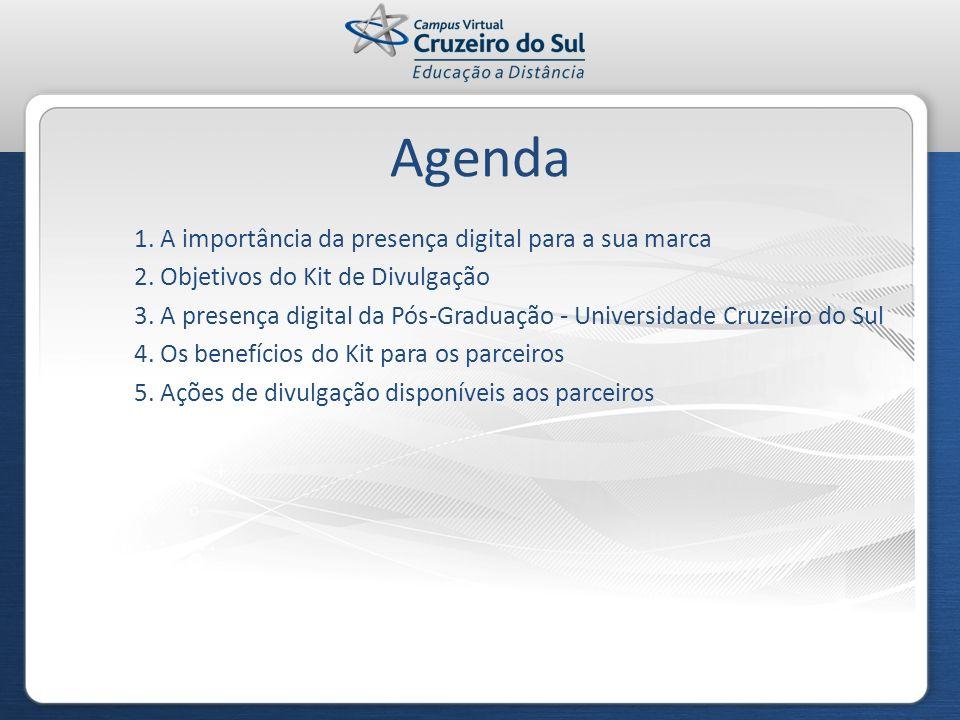 Agenda 1. A importância da presença digital para a sua marca