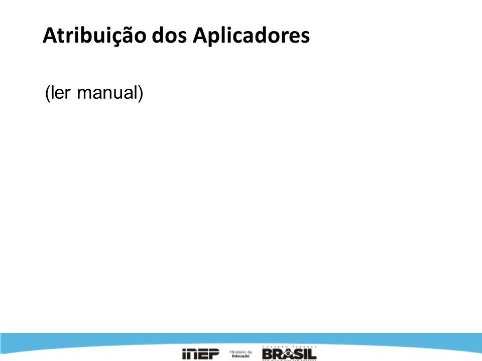Atribuição dos Aplicadores