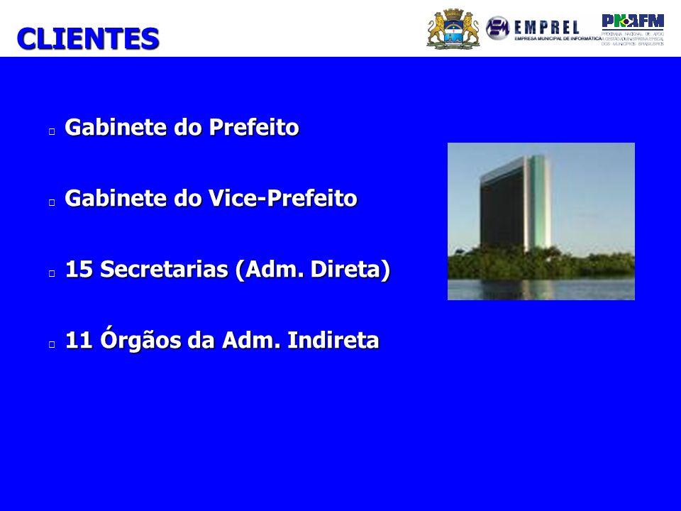 CLIENTES Gabinete do Prefeito Gabinete do Vice-Prefeito