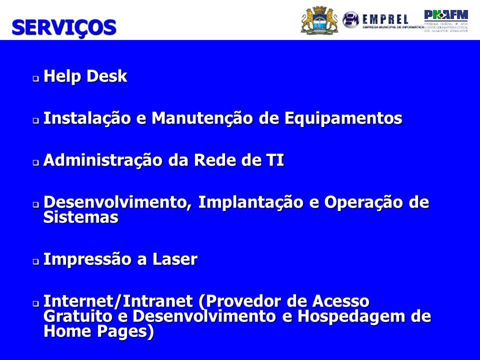 SERVIÇOS Help Desk Instalação e Manutenção de Equipamentos